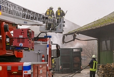 Containerbrand Stadt